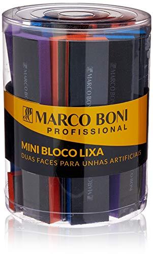 Bloco Lixa 2 Faces para Unhas Artificiais Pote com 36 Uni, Marco Boni