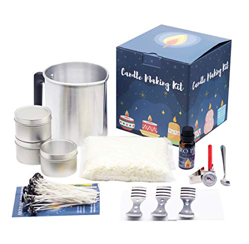 Candle Making Kit, Candle Beginners DIY Starter Set to Create Large Scented Candle with Soy Wax, Pouring Pitcher Candles Art and Craft Supplies