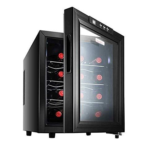 Enfriador de Vino Independiente Multifuncional con Temperatura y Humedad constantes, Puerta de Vidrio Templado Hueco de Doble Capa
