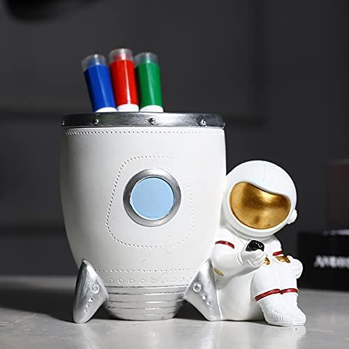 Astronaut Pen Holder Astronauta Titular De La Pluma Escritorio Lindo Spaceman Organizador De Lápices Para Niño Decoración De Escritorio Mujeres Maquillaje Pincel Titular Oficina Accesorios Decorativos