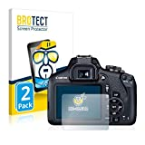BROTECT Schutzfolie kompatibel mit Canon EOS 2000D (2 Stück) klare Bildschirmschutz-Folie