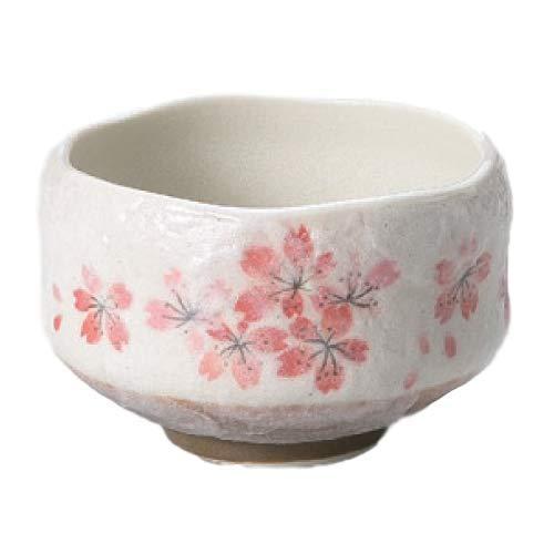 Ryu Mei Ippuku Shino Tataki Sakura Matcha Chawan (Matcha Bowl), Red by