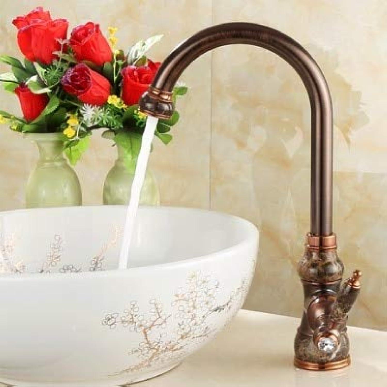 CZOOR alle kupfer stand becken kalt und warm wasserhahn braun bronze antike europische küchenspüle wasserhahn becken wasserhhne mischbatterie, d
