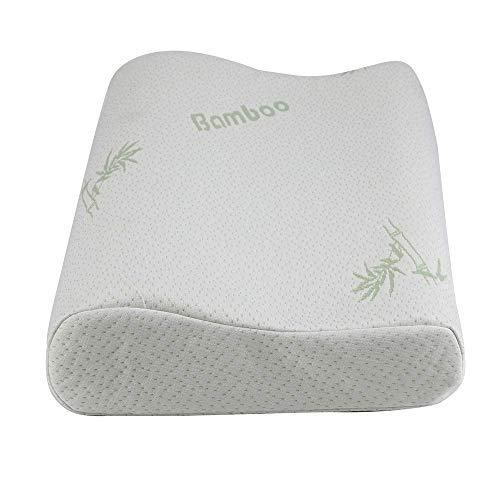 Almohada de espuma viscoelástica para dormir Almohada cervical refrescante con cojín de cama de bambú ajustable Loft para el lado y el dorso Almohada de gel hipoalergénico para el dolor de cuello con