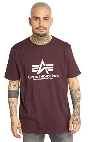ALPHA INDUSTRIES Herren T-Shirt Basic rot 2XL