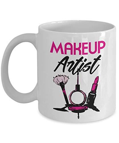N\A Suministros para Tazas de Regalo de café y té de Artista de Maquillaje y Bonitos Regalos para cosmetóloga Que ama el lápiz Labial líquido, Mate, Rojo y Rosa (11 oz)