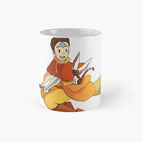 Aang And Momo As Kiki Jiji Classic Mug - 11 Ounce For Coffee, Tea, Chocolate Or Latte.