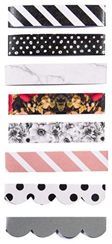 RAYHER Paper-Media Lot de 8 rubans adhésifs en papier 300 x 15 mm