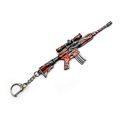 LERANXIN 1 Piezas M4A1 PUBG Arma 3D Modelo Llavero de Metal, TLongitud Unos 12cm, Regalo Accesorios Cosas Objetos para Niños Hombre Juego Fans
