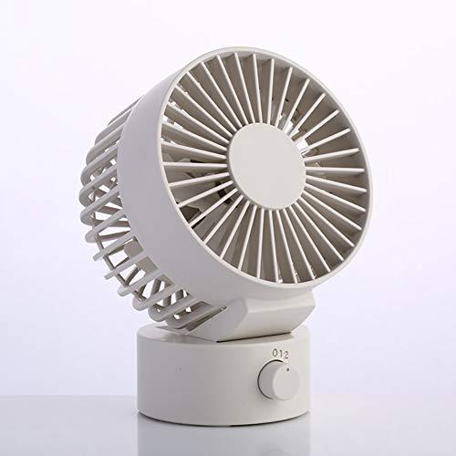 F-JX Escritorio portátil de Mano del Copo de Nieve Ventilador con la Carga USB, 2 Velocidad de los Ventiladores Ajustables, para el hogar OfficeDesk Viajes,B