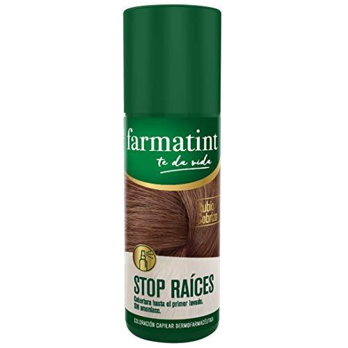 Farmatint Stop Raíces - Spray instantáneo capilar, Tono Cobrizo - 75 ml