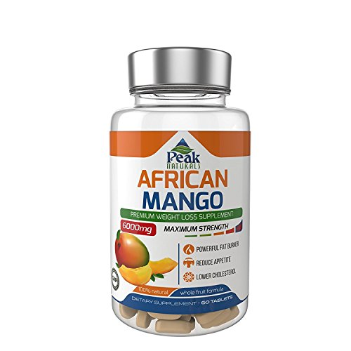 HIGH Strength African Mango for Weight Loss 6000MG Vegan Friendly Controls Leptin Levels for Reduced Appetite and Fast Weight Loss Lowers LDL Cholesterol Lose Weight Fast