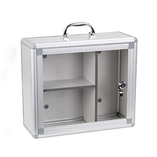 ZCG Armario grande de almacenamiento de medicina médica de montaje en pared, caja de kit de ecología, con cerraduras seguras, para uso en casa y en la oficina (tamaño: 340 x 130 x 290 mm)