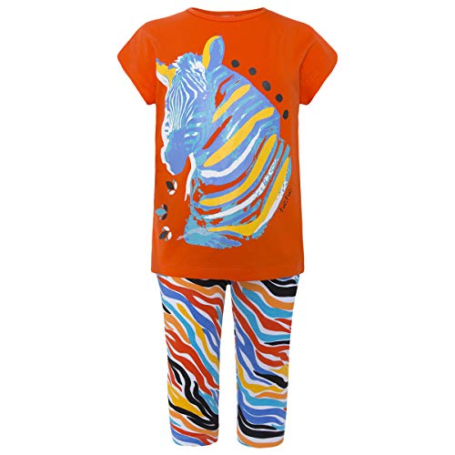 Tuc Tuc Camiseta+Leggings Punto Piratas Good Vibes Conjunto de Ropa, Naranja (Naranja 10), 10 años (Tamaño del Fabricante:10A) para Niñas