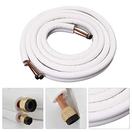 Wnuanjun, Tubo del acondicionador de Aire 1/4 3/8 Bobina aislada Tubería de Cobre Tubería de Aire Acondicionado de 5 m Juego de Doble línea Tubería de Aluminio Cable de línea Dividida