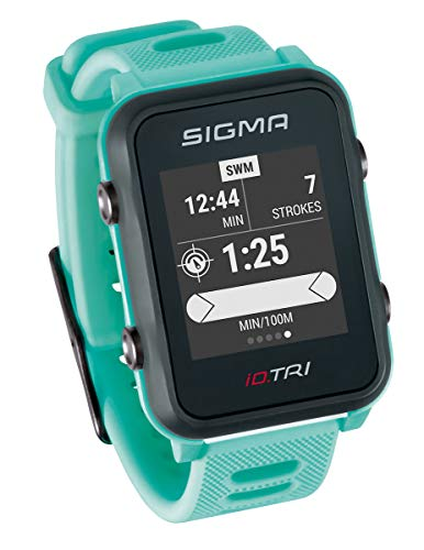 Sigma Sport ID.Tri Basic GPS Triathlon Watch, Unisex-Adult, Neon Mint,