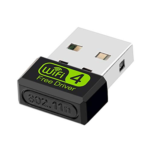 Getue Plata Mini Wireless WiFi Stick para PC Laptop Desktop, Compatible con Windows XP/Vista /7/8/8.1/10/Mac - Plata