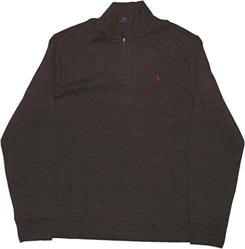 Brown Quarter Zip Sweaters Men