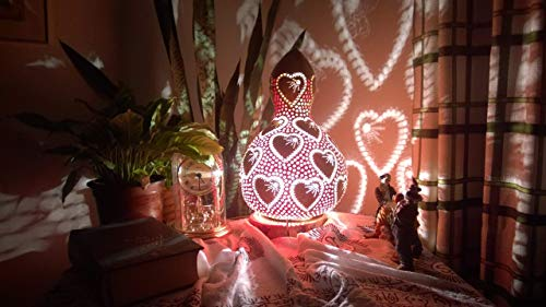 Passion of Lovers | Gourd Lamp Unique Gift Idea Night Light Home Decor Ambiance Lighting