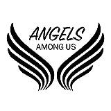 Creative Concepts Ideas Angels Among Us CCI Decal Vinyl Sticker|Cars Trucks Vans Walls Laptop|Black|7.5 x 5.0 in|CCI2373