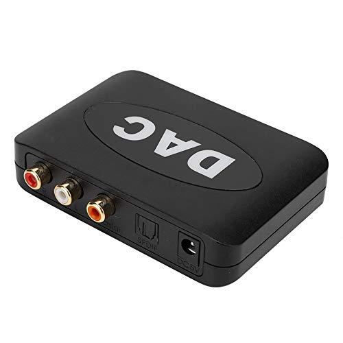 Convertidor de Audio Digital a analógico 192K/24bit DAC coaxial SPDIF Digital Cable óptico Toslink a Adaptador de Conector de 3,5 mm para Cine en casa