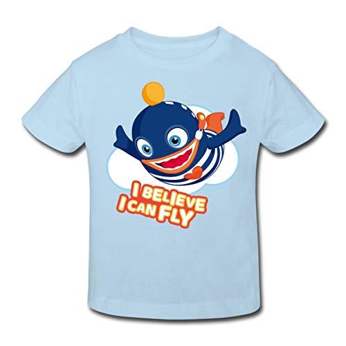 Sorgenfresser Ping I Believe I Can Fly Kinder Bio-T-Shirt, 134-140, Hellblau