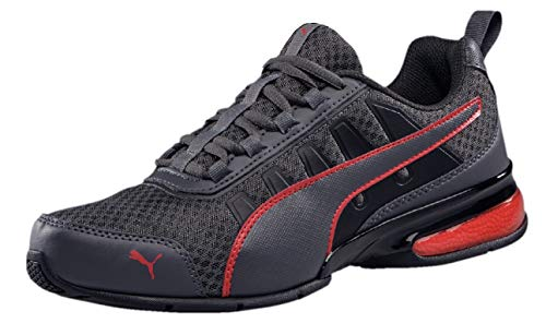PUMA Unisex-Erwachsene Leader Vt Mesh Sneaker, Grau (Asphalt-High Risk Red 1), 42 EU (8 UK)