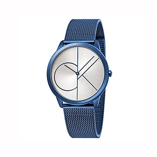 ZFF Reloj Inteligente - Pareja Reloj Ultrafino Impermeable Negocio Casual cinturón Reloj Mujer Reloj Reloj de Cuarzo Impermeable de Moda con Tiempo y Fecha señoritas Reloj (Color : #8, Size : Men's)