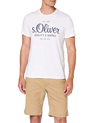 s.Oliver Herren T-Shirt, Weiß, L