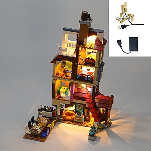 Kit De IluminacióN Led Para Harry Potter Ataque en la Madriguera, Juego De Juguetes Compatible Con Lego 75980(No Incluye El Modelo)