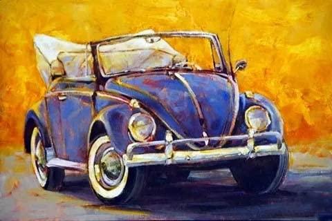 Pintura colorida del coche pinturas al óleo acrílicas por números pintado a mano DIY digital lienzo pintado regalo decoración de la pared del hogar A7 60x75cm