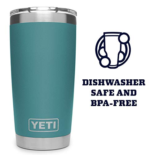 YETI Rambler 20 oz Tumbler, Stainless Steel, Vacuum Insulated with MagSlider Lid, River Green