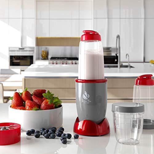 ECODE Batidora de Vaso Titanblade Dieta Mix Smoothies licuadora para Batidos Frutas y Verduras Vasos Intercambiables con Tapa