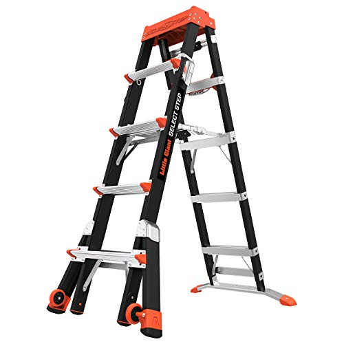 Little Giant Ladders, Select Step, 5-8 foot, Stepladder, Fiberglass, Type 1AA, 375 lbs weight rating, (15130-001) Louisiana