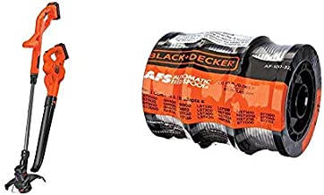 BLACK+DECKER 20V MAX String Trimmer/Edger & Sweeper Kit with Trimmer Line, 30-Foot, 0.065-Inch, 3-Pack (LCC222 & AF-100-32P)