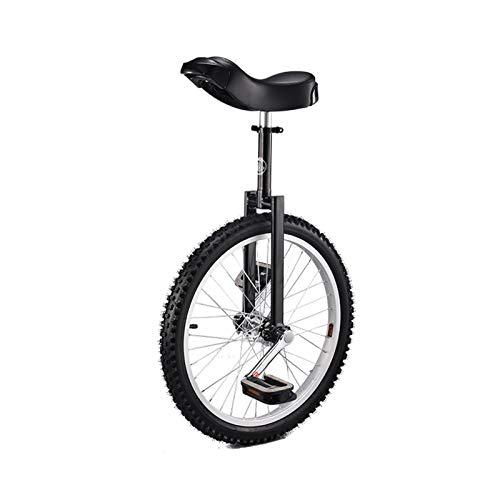 BQKOZFIN 子ども用 一輪車 20インチ 組み立て式 競技用 大人用 子供用 学生用 ブラック