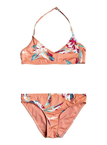 Roxy Mädchen Made for Bralette-Bikini-Set 8-16 Two Piece, Terra Cotta rg Tropic Call s, 16