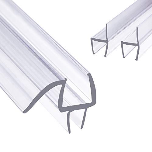 fowong Premium Duschkabinen-Dichtung 3 x 90 cm | Duschtür Dichtung für Glastür mit 12mm Dicke | Wasserabweisende Duschdichtung mit optimal angeordneten Gummilippen
