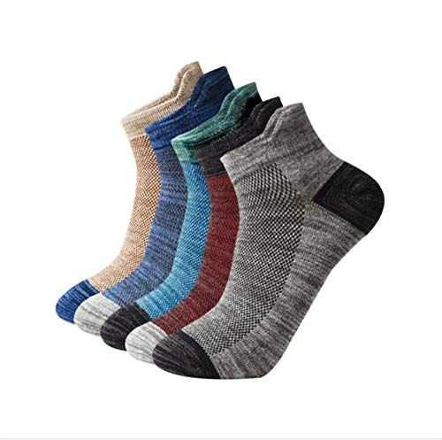 Witou 10Pairs / porción Hombres de Negro Medias de compresión del Tobillo del algodón Calcetines Baloncesto de los Deportes Masculinos Calcetines, Comodidad y Ocio