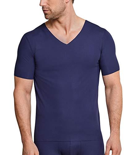 Schiesser Herren Shirt 1/2 Unterhemd, Blau (Blau 800), 5