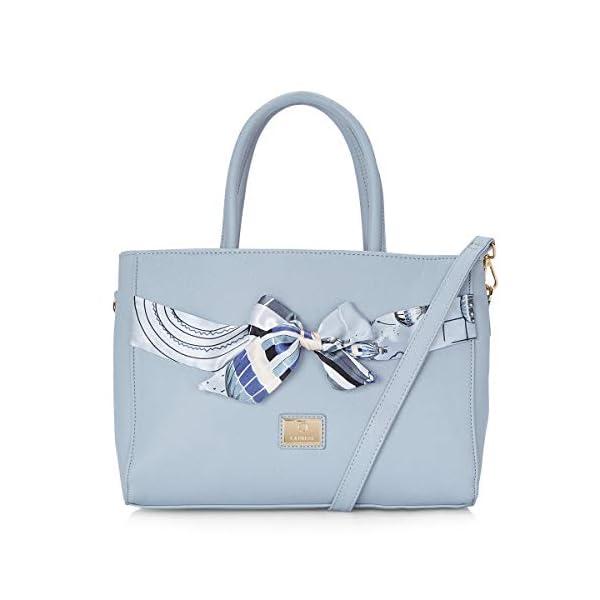 Caprese Cate Satchel Large (E) Bluish Grey
