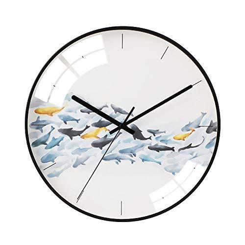 CEyyPD Habitación Ultra Silenciosa Acerca del Dormitorio Fresco Y Elegante Sala De Estar Reloj ABS/Reloj De Pared