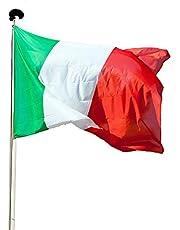 KliKil Vlag balkon decoratie -1 stuks -vlaggen vlaggen fanartikel 90 x 150 cm polyester met metalen ogen, zwart rood goud ..
