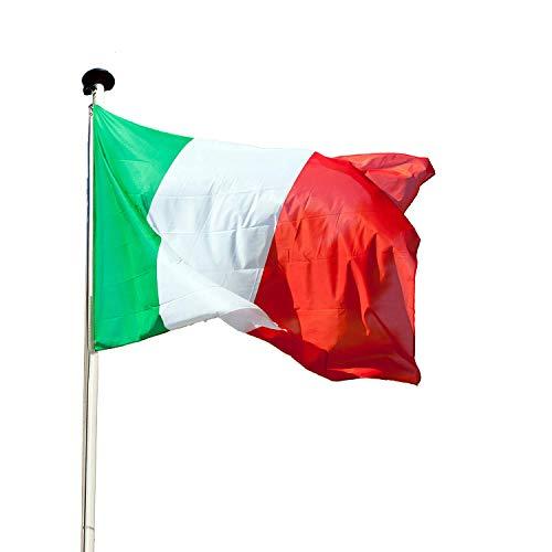 KliKil Italienische Flagge Balkon Deko -2 pcs -Flaggen Fahnen Fanartikel 90 x 150 cm Flagge von Italien Polyester mit Metall-Ösen