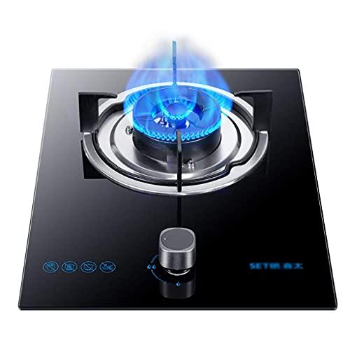 YGB Minigasspis, inbyggd 5,0 kW brännare svart gas på glasspis/spis/spishäll, för uppvärmning, matlagning, kokning, stekning, limma [Energiklass A] (Storlek: LPG)