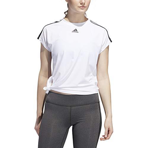 Adidas Originals Camiseta de mujer con 3 rayas (blanco)