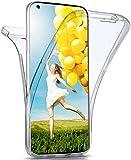 moex Double Hülle für Samsung Galaxy A21s - Hülle mit 360 Grad Schutz, Silikon Schutzhülle, vorne & hinten transparent, Clear Cover - Klar