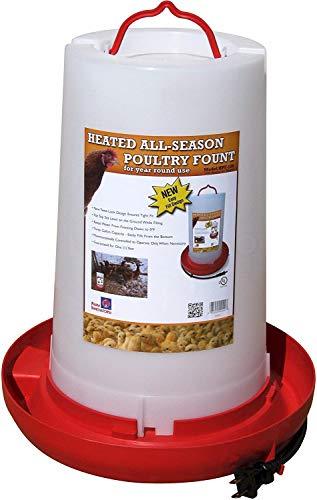 Farm Innovators Model HPF-100 All-Seasons Heated Plastic Poultry Fountain, 3 Gallon, 100-Watt (Single Pack)