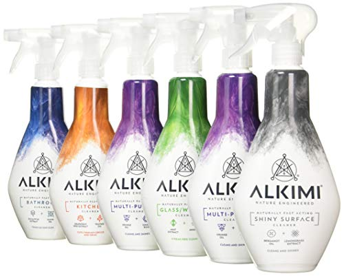 ALKIMI Ultimate Collection, Contains 2 X Multi-Purpose Cleaner, 1 X Bathroom Cleaner, 1 X Kitchen Cleaner, 1 X Window Cleaner & 1 X Shiny Surface Cleaner, Pack of 6