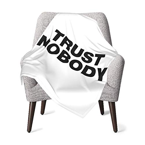 Trust Nobody Funny Sayings Quote Baby Blanket Super Soft Printed Blanket Receiving Blanket for Boys Girls, Stroller, Crib, Newborns, Receiving